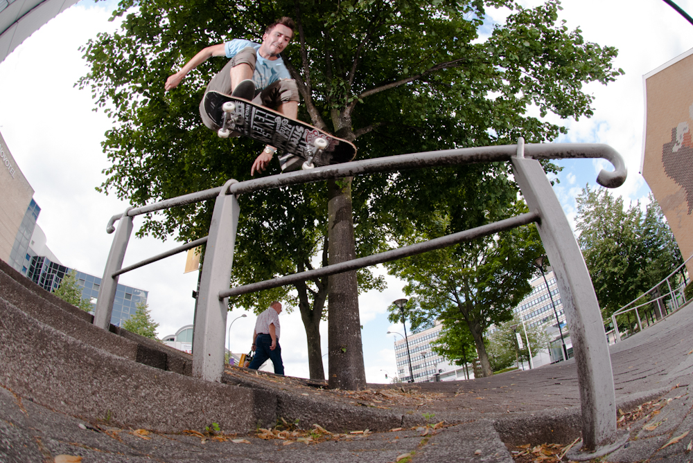 Josh Kerr - Kickflip Over Rail - Uni Hill Sheffield
