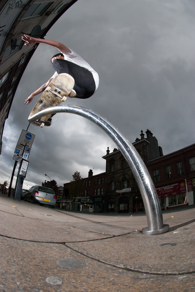 Tristan Rudman - Nosegrind wallie - Wicker Sheffield