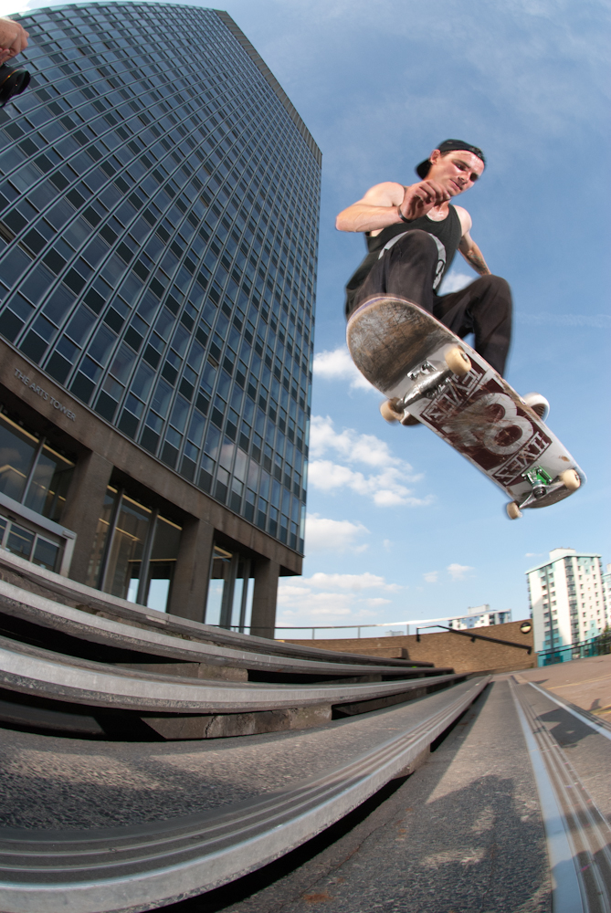 Rhys Tweek - 360 Shuv - Arts Tower Sheffield